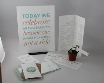 Full Wedding Stationery Set