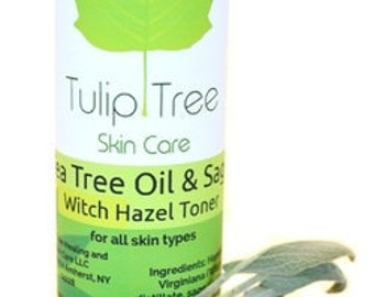 Tea Tree Oil & Sage Witch Hazel Toner - Alcohol and Paraben Free! 8 fl oz