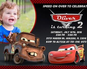 Disney Cars Invitation Disney Cars Birthday Disney Cars Party Disney Cars Invite