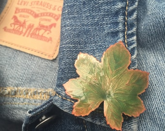 Maple Leaf Pin Brooch (stock #83)
