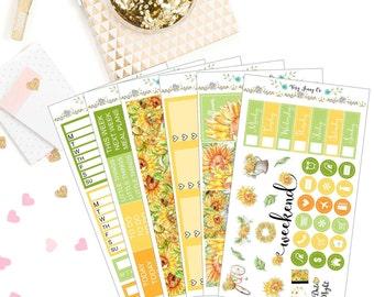 Sunflower Goddess Planner sticker Kit / Planner stickers / sticker kit / stickers /