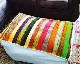 Giant Pouf Ottoman, Floor Pillow