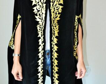 Evening cape, elegant Cape, poncho, dressy cape, different cape, designer cape, handmade cape, women cape, fancy cape