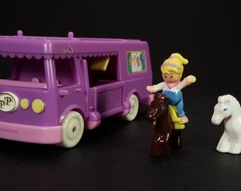 Vintage Polly Pocket 'STABLE on THE GO' 1994 Bluebird Toys