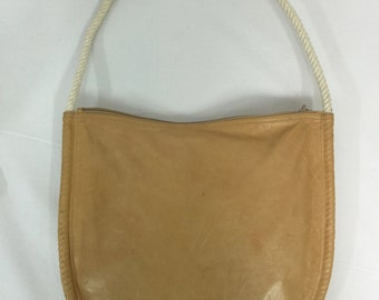 VINTAGE HANDBAG. U SHAPE W Rope Handle