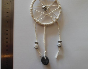 Silver Beaded Dream Catcher