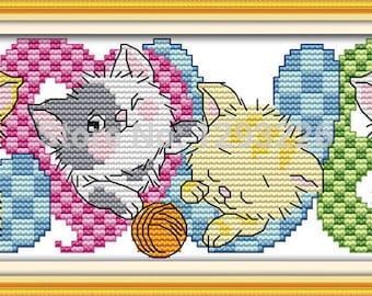 Love Cats (2) Cross Stitch Kit