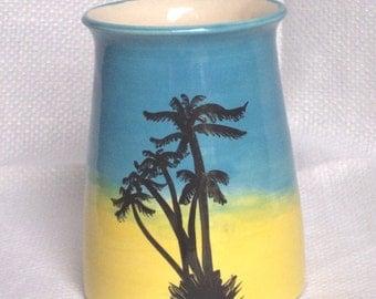 Beach Vase - Ceramic Vase - Pottery Vase