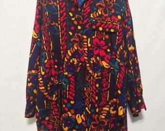 Vintage Black Pattern Shirt