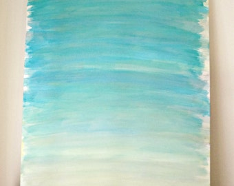 Aqua Ombre Canvas - RebeccaAnneCreations