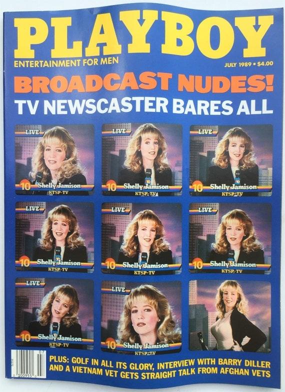 JULY 1989 Playboy Magazine- TV newscaster Nude Shelly