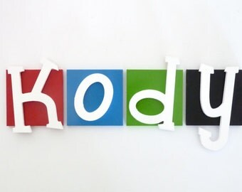 Wooden letters, Kids room decor, Kids wooden name signs, Door sign, name letters, Custom name sign - Small