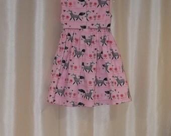Meloney's Design Handmade pink fox dress
