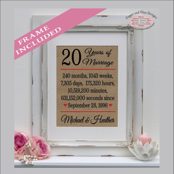 20 Year Wedding Anniversary Gifts For Her: 20 Years Of Marriage 20th Wedding Anniversary 20 Years Of