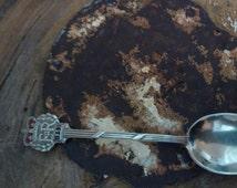 1953 queen elizabeth coronation teaspoon / silver plate / vintage spoon / epns / coronation spoon / silver coronation spoon