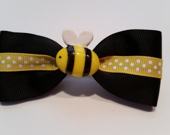Black and Yellow Bumble bee Tuxedo Hair Bow