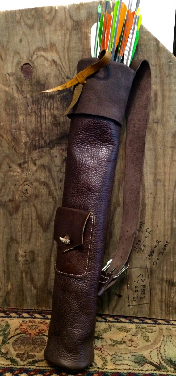 Basic Leather Archery Shoulder Quiver