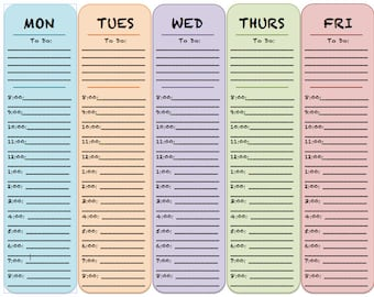 Colour Block Style - Daily and Weekly Planner