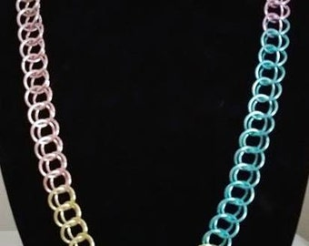 Rainbow Persian Chainmaille Necklace