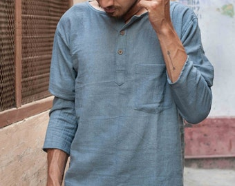 Natural Khadi Shirt with Pocket