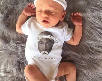 "West Coast baby ""Tupac"" Onesie"