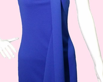 Elegant draped Dress and Choker BALANCES 30% gem. Black, blue and salmon. One size XS/S/M SALE 30%