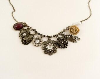 Bronze Vintage Charm Necklace