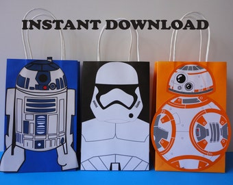 Star Wars Favor Bags R2D2 BB8 Stormtrooper Birthday