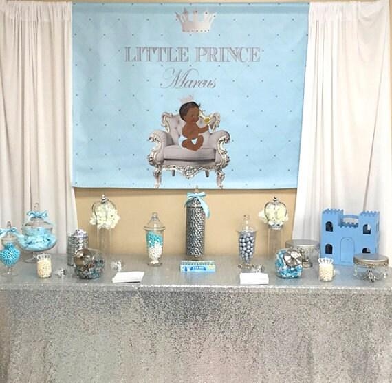 Baby Blue Bathroom Set: Gold Silver And Light Blue Prince Crown Baptism