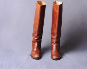Bohemian/boots in leather/riders/boot vintage boots