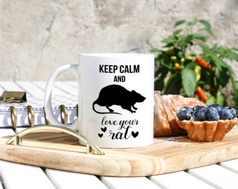 Rat Mug - Rat Pet Gifts - Pet Rat Mug - Rat Owner Gifts - Rat Lover Mug - Cute Rat Gifts - Funny Rat Mug - Love Your Rat - Rat Gifts