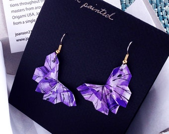 Hand Painted Purple Butterflies