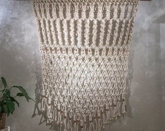 Extremely large tapestry Macramé with copper elements//extra large hand knotted wall decoration/wallart//extra large bohemian tapestry