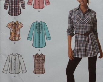 Simplicity 2447 Shirt Sewing Pattern 16-24