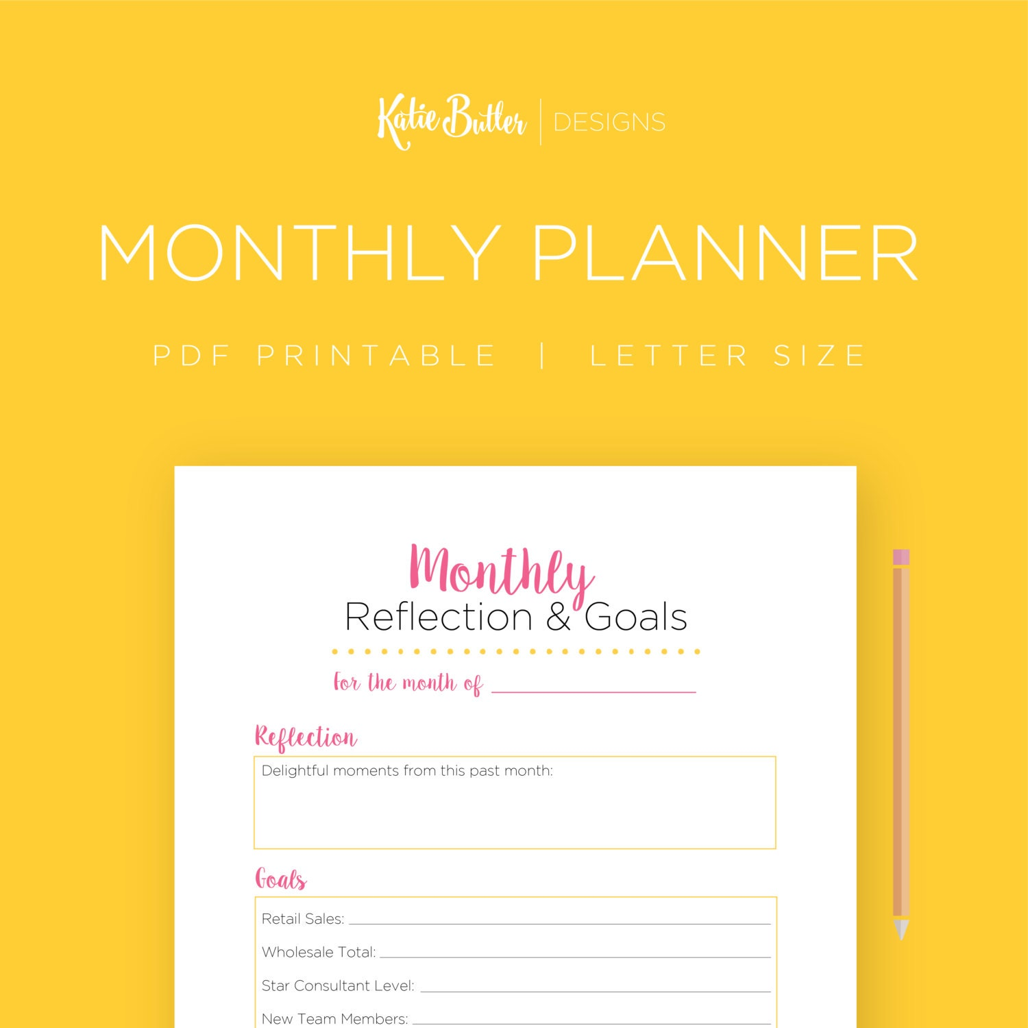 mary kay monthly planner editable direct sales goals mlm