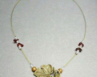 Grape Leaf Wine Necklace