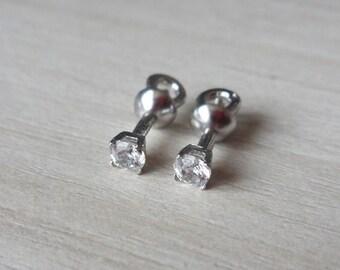 Silver stud earrings studs Little Stones