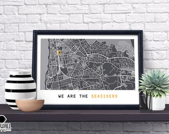 Blackpool  Football Poster, Football Poster, Football Print, gift, Map Print