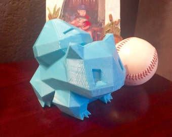 Bulbasaur Pokemon Coin Piggy Bank 3D Printed