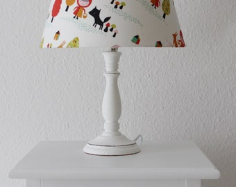 "Unique table lamp light ""Red Riding Hood and wolf"""