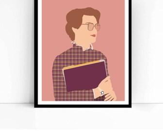Barb Stranger Things TV Poster, Minimalist print
