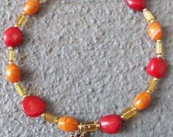 Red and Orange Tree Bracelet