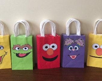 Sesame Street Favor Gift bags (10), Sesame Street Supplies, Sesame Street decorations, Sesame Street Party