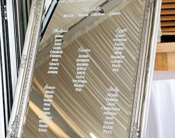 Antique Frame Mirror Table Plan