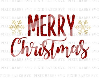 Merry Christmas SVG, SVG files, Snowflake svg, Holiday SVG, Christmas svg, santa svg, cuttables, Cricut svg, Silhouette svg, Cutting Files
