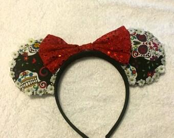 Dia De Los Muertos Minnie Ears