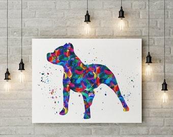 Pitbull Wall Art pit bull art | etsy