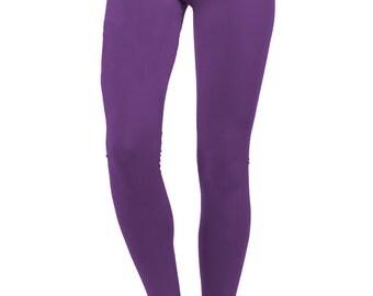 yoga pants women, yoga leggings, yoga clothes, purple pants, violet pants, violet leggings, chakra leggings, purple leggings, cotton legging