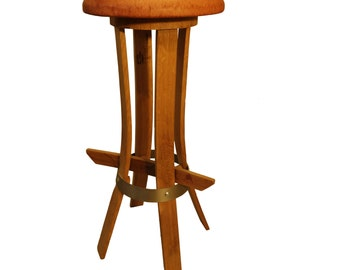 "Bar stool ""Tastevin seat leather."