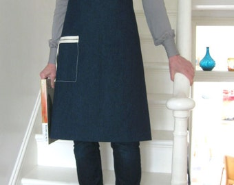 Denim work apron for artists & makers. No 2